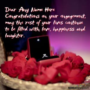 Unique Engagement Wishes With Couple Names