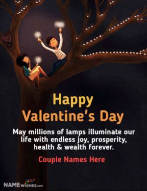 Valentines Day Image For Lover With Name and Message