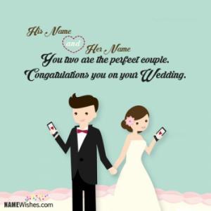 Wedding Congratulations With Couple Names