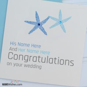 Wedding Wish Card For Couple With Names