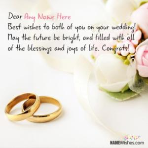Wedding Wishes For Anyone With Name
