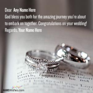 Wedding Wishes For Friends With Name Editing