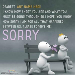 Sorry Greeting Card Images With Name And Photo