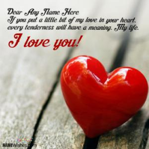 Write Couple Name and Quotes On Love