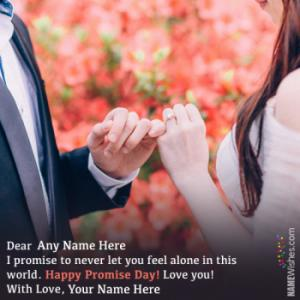 Write Couple Names On Promise Day Wishes