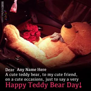 Write Couple Names On Teddy Bear Day Wishes