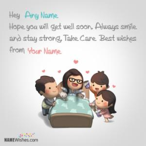Write Friend's Name On Get Well Soon Images