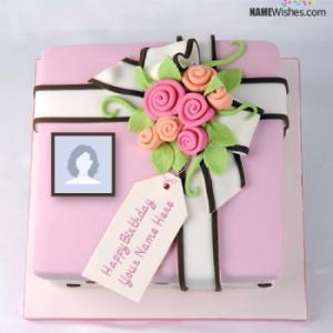 Write Name on New Happy Birthday Cake