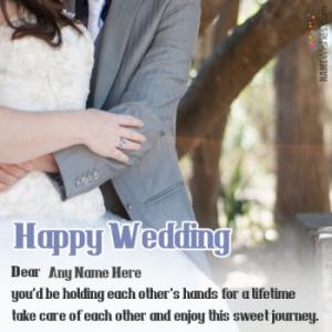 Write Names On Best Wedding Wishes