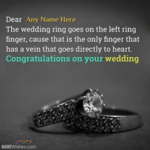 Write Names On Unique Wedding Wishes