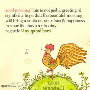 Write Your Name On Good Morning Wishes