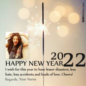 Write Your Name On Happy New Year Wish With Photo