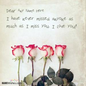 Write Your Name On Miss You Images