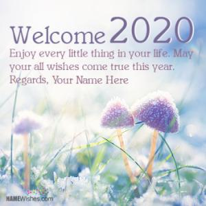 Write Your Name On Welcome 2019 Wishes