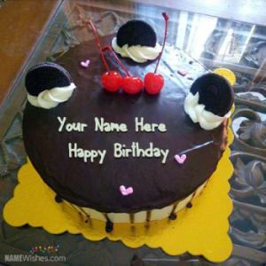 Yummy Orio Chocolate Birthday Cake