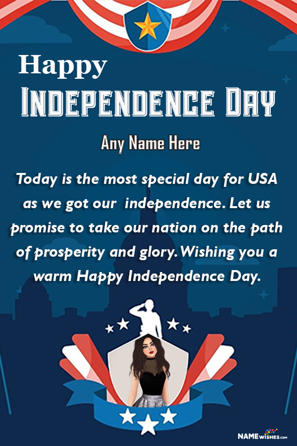 4th of July Happy US Independence Day Wishes With Name