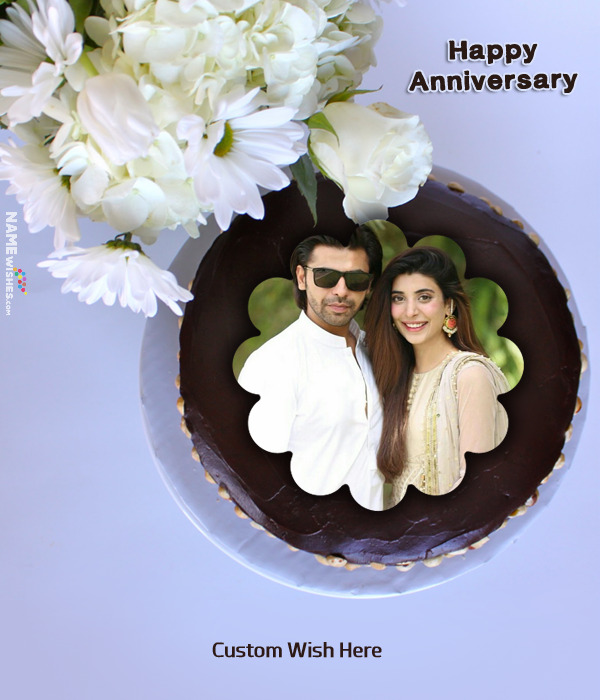 Anniversary Cake With Photo Frame Download