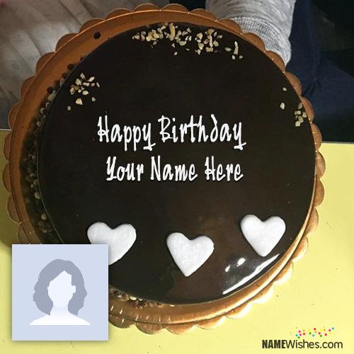 Awesome Chocolate Birthday Cake With Name