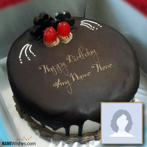 Awesome Hersheys Chocolate Cake With Name