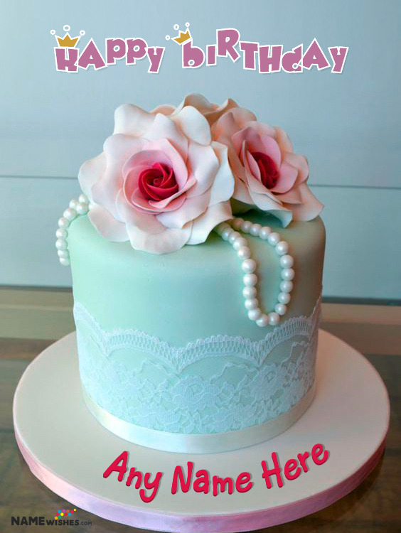 Beautiful Birthday Cake With Name For Wife Sister or Mother