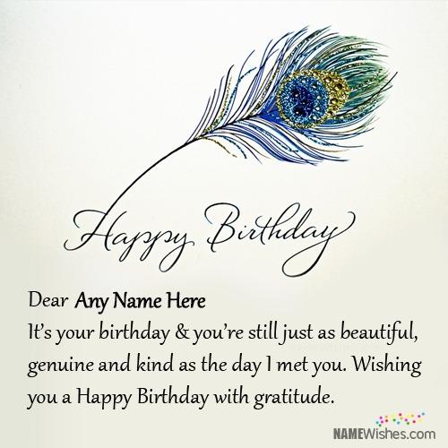 Beautiful Birthday Wish With Name Editing