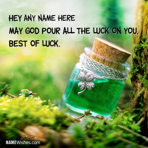 Beautiful Good Luck Quotes With Name