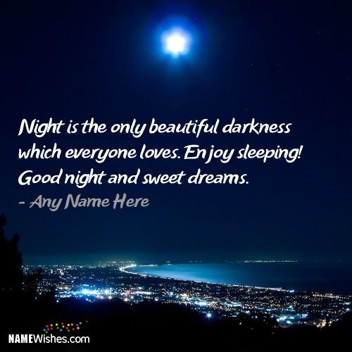 Beautiful Good Night Wish With Name