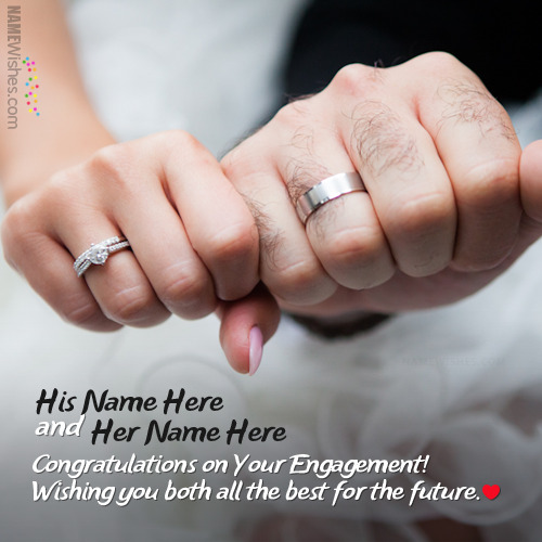 Fantastic Engagement Wishes With Couple Names