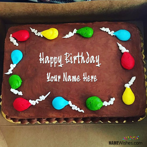 Best Ever Chocolate Birthday Cake With Name