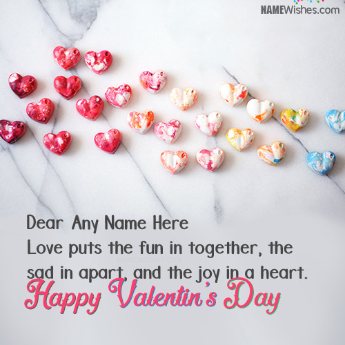 Best Valentines Day Wishes With Couple Names