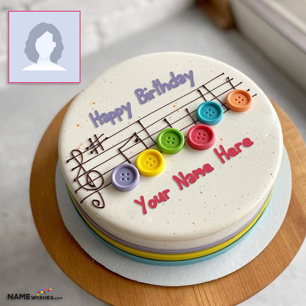Birthday Cake for Music Lover With Name