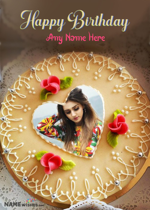 Birthday Cake With Name and Pic Edit Special
