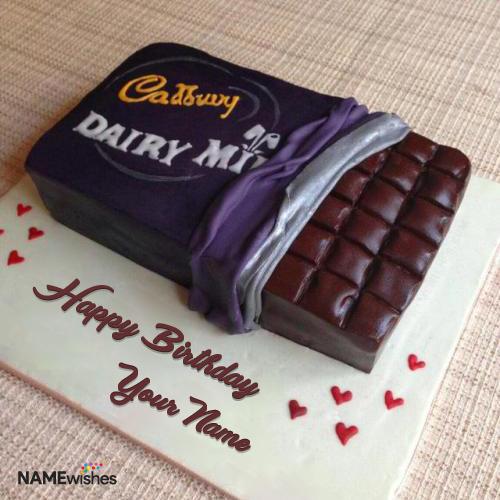 Cadbury Dairy Milk Birthday Cake With Name