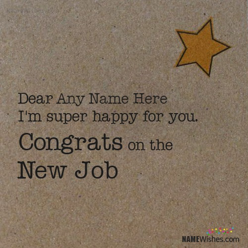 Congratulations Anyone On New Job With Name