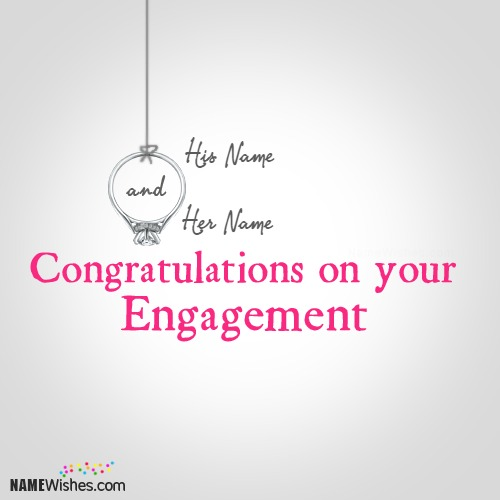 Congratulations Wishes On Engagement With Names
