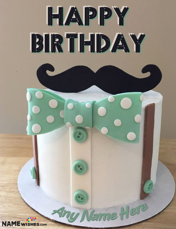 Cool Happy Birthday Cake For Dad Husband Or Boyfriend With Name Men Cake