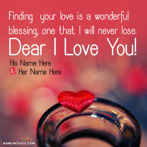 Free Editing of Couple Names on Love Images