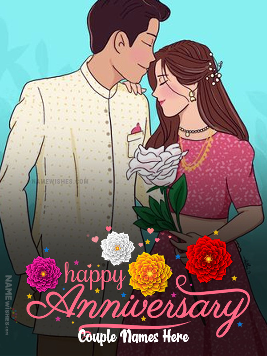 Create Anniversary Card with Photo Online Free