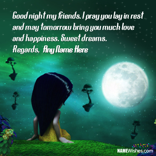 Cute Good Night Wishes For Girls