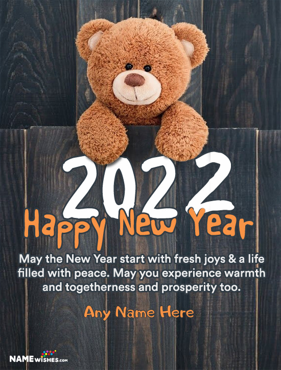 Cute Happy New Year 2021 Wishes With Name For Status