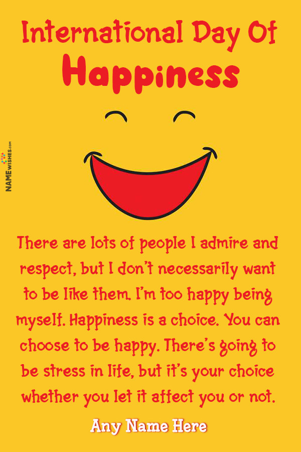 Cute Smily Emoji International Day of Happiness Quotes