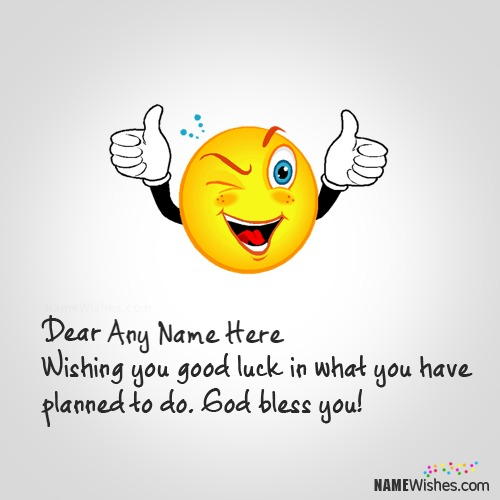 Cute Wish With Good Luck Quote