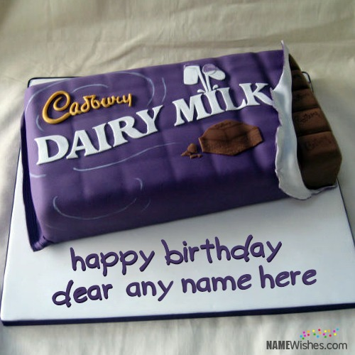 Dairy Milk Birthday Cake With Name