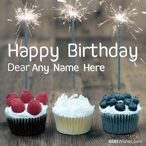 Elegant Birthday Wish With Stylish Name