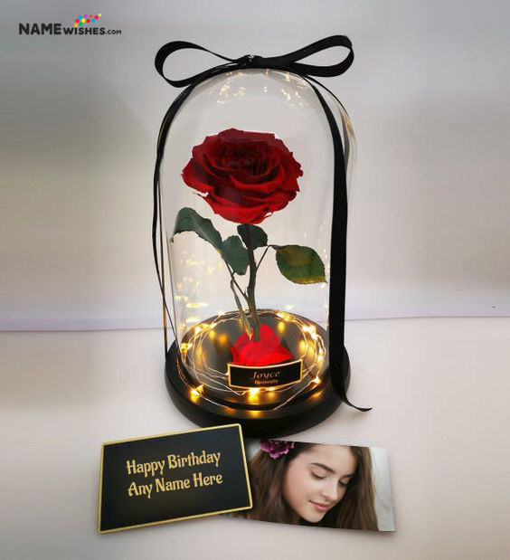 Enchanted Rose Personalized Birthday Gift For Wife Girlfriend