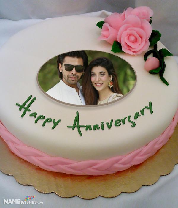 Free Anniversary Cake With Photo