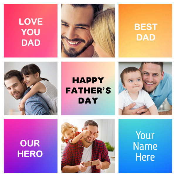 Free Happy Fathers Day Photo Collage