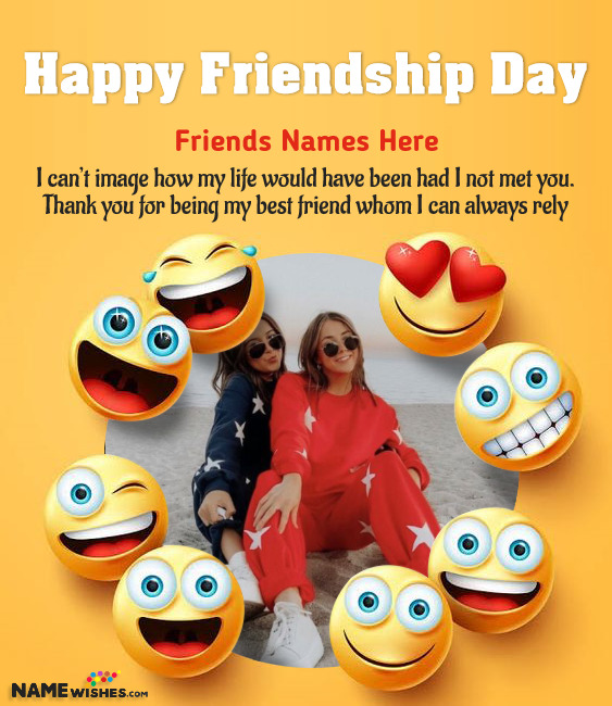Friendship Day Quotes With Name and Photo of Best Friends
