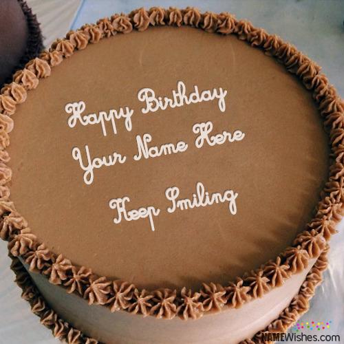 Full Chocolate Birthday Cake With Name