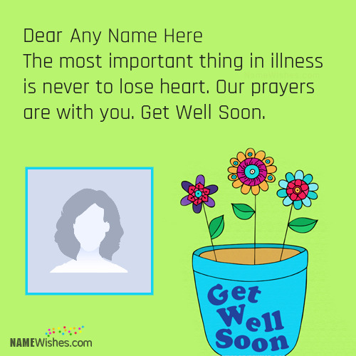 Get Well Soon Images With Name Writing Option